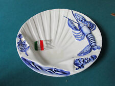 """ITALIAN FANTASY LOBSTER PLATE SIGNED  MADE BY BEFFE STILL WITH STICKER 10""""[*206]"""