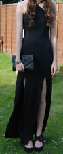 Misguided Black Evening Dress Size 10