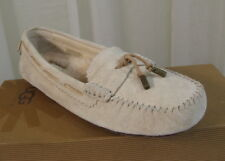 NIB UGG Australia Womens Roni Moccasin Cream Suede Flat Loafer US 6.5/37.5 Shoes