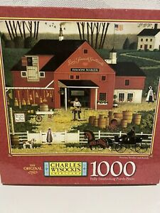 CHARLES WYSOCKI   * BROOMS, BRUSHES AND BARRELS * 1000 PIECE JIGSAW PUZZLE