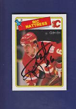 Ric Nattress RC **Autograph** 1988-89 O-PEE-CHEE Hockey #238