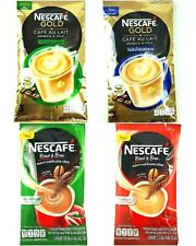 3 x Nescafe' Gold, Blend & Brew Premix Powder Roasted Coffee Delicious Healthy