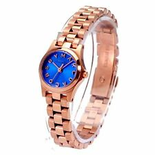 Marc Jacobs  Women's Henry Dinky  Rose Gold Tone Blue Dial  Watch  MBM3204 $200