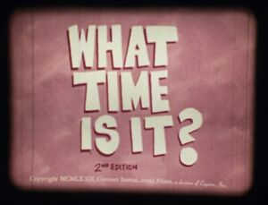 WHAT TIME IS IT? Educational Cartoon (Coronet 1972) 16mm