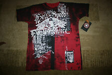 AFFLICTION HELL SPEED SHIRT RENEGADE SERIES LARGE NWT DIRTY RED HELL SPEED EAGLE