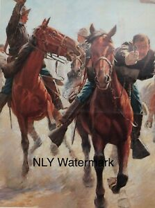 Cowboy Horse Charles Schreyvogel Breaking The Line Print Ad
