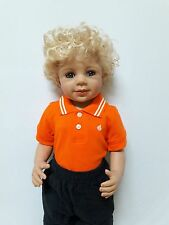 NWT Exclusive Masterpiece Doll Laura Blonde Re-dressed As Boy Monika Levenig 29""