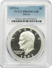 1973 S $1 Silver Eisenhower Ike Dollar PCGS PR69DCAM