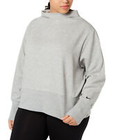 Nike Women's Plus Size Fleece Funnel-Neck Training Blouse Pullover Shirt Tops