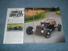 "1923 Ford Model T Roadster Retro Lakes Modified Article ""Complex Simplicity"""