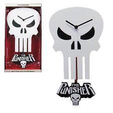 The Punisher Skull 3-D Pendulum Wall Clock ~ New in Box!
