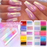 Aurora Nail Stickers Nail Decals Nail art Decorations Nail Transfer Foils