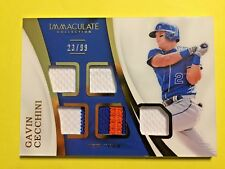 2107 Immaculate Collection #IM-CC Gavin Cecchini 5 relics 23/99 NY Mets