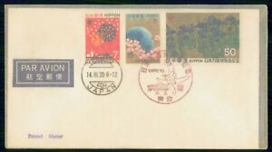 Mayfairstamps Japan 1970 Tokyo Earth Flowers Combo Cover wwm_24967
