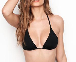 VICTORIA'S SECRET Basic Black Cult Classic Triangle Bikini Top Adjustable PICK