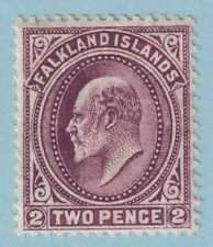 FALKLAND ISLANDS 24a REDDISH PURPLE  MINT HINGED OG * LIGHT CREASE - VERY FINE !