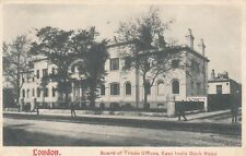 London Postcard. Board of Trade Offices. East India Dock Rd. Tower Hamlets. 1904