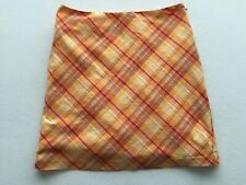 American Eagle Outfitters Orange Plaid Skirt Size 4