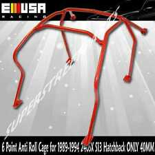 6 Point Anti Roll Cage for 1989-1994 240SX S13 Hatchback ONLY 40MM