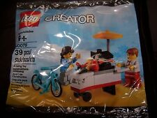 New Lego Creator Set 40078 Hot Dog Stand Cart BBQ Blue Bike 2 Minifigures
