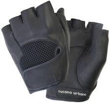 Tucano Urbano 908n Schiaffo Half Fingerot Real Leather Gloves in Size XXL