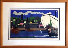 Romare Bearden Home to Ithaca 1978 Signed Original Silkscreen