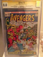 Avengers 95 CGC SS 8.0 signed Stan Lee (in purple) & Neal Adams 1st Marvel cover