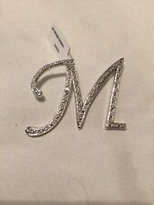 Real Diamond Initial M Sterling Silver Pendant. Brand new
