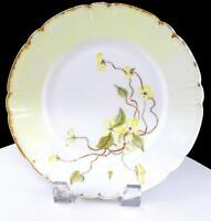 "HAVILAND & CO LIMOGES FRANCE YELLOW FLORAL AND GOLD 8 1/2"" CABINET PLATE"