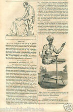 Portrait James Watt Scotland/Brahmin Varna Hinduism India GRAVURE OLD PRINT 1833