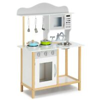 Wooden Kitchen For Little Sous/Children,Pretend Role Play toy Kitchen Playhouse
