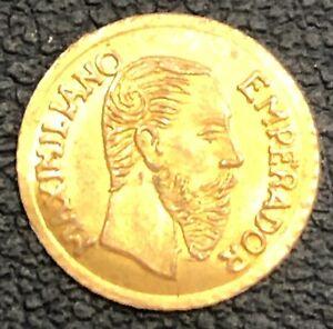 MEXICO 1865 MEXICAN GOLD TOKEN COIN MAXIMILIAN MEXICANO
