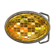 DISCO BALL COOL RETRO STYLE BELT BUCKLE - GREAT GIFT ITEM
