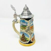 Vintage Schmitt & Sohn Germany 1960s mini German handpainted ceramic beer stein