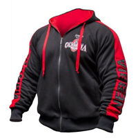 M'OLYMPIA Men Gyms Hoodies Gyms Fitness Bodybuilding Male Workout Hooded Jacket