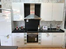 Küchenzeile mit Natursteinplatte,Geräten,Spüle und Zubehhör im Abverkauf 330 cm