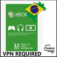 Microsoft Xbox LIVE Gold 12 Month / 1 Year Membership XBX ONE 360 [VPN REQUIRED]