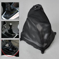 Black PU Leather Gear Boot Gaiter Cover for Mazda Protege Mazda 323 99 2010-2003
