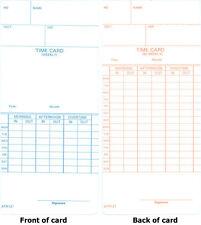 1000 ATR121 TIME CARDS FOR ACROPRINT ATR120 & ATR120r TIME CLOCKS (09-9110-000)