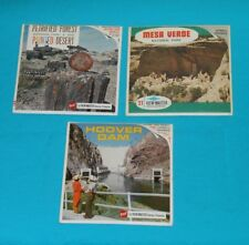 SOUTHWEST VIEW-MASTER REELS LOT x3 packet Hoover Dam Petrified Forest Mesa Verde