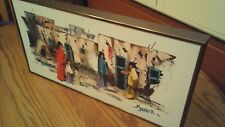Southwestern signed Oil Painting on Canvas with Bronze Frame
