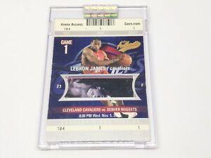 2003-04 Fleer Authentix Rookie Tickets RC #104 LeBRON JAMES /1250!! Encased