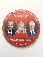 "2017 President Donald Trump Inauguration Day 3"" Button ""TRUMP SUPPORTER"" Pin"