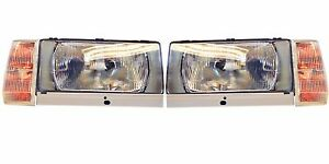 VOLVO 740 1983-89 760 -86 EUROPEAN H4 HEADLIGHT + Turn Signals Conversion Kit