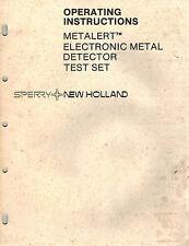 New Holland Metalert Electronic Metal Detector Test Set Operator'S Manual
