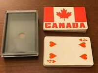 Vintage Canada Souvenir Playing Cards with Plastic Case