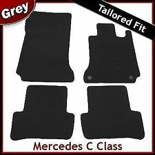 Tailored Carpet Mats for MERCEDES C-Class W204 Automatic 2007-2014 GREY