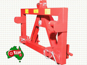 Tractor Euro Quick Hitch 3 Point Linkage A Frame Adaptor Implement