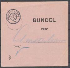 GROOTROND UTRECHT-LEIDEN B, 11 DEC 11 OP BUNDELBRIEFJE  - AMSTERDAM.  Ab278