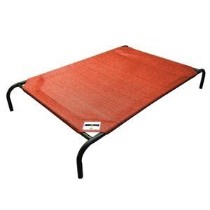 Medium Steel Pet Bed Terra Cotta Indoor Outdoor Dog Raised Sleeper Furniture